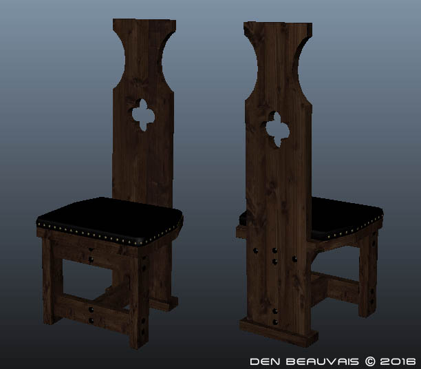 Next...back to the computer to design the end Captain chairs in Maya. I animated this explode to show exactly how the pieces fit together and the screws ... & Den Beauvais - Medieval Table Project